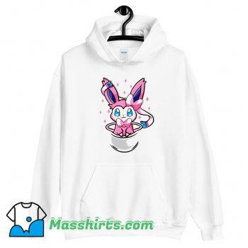 Anime Pouch Sylveon Hoodie Streetwear