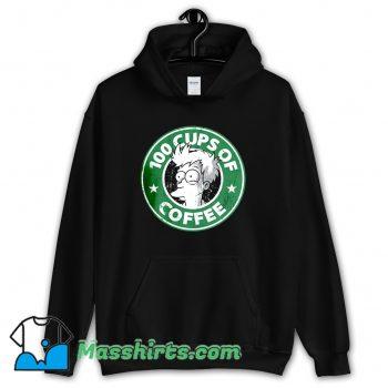Awesome 100 Cups Of Coffee Futurama Hoodie Streetwear