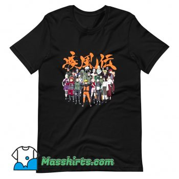 Awesome Naruto Cast Group Comic T Shirt Design