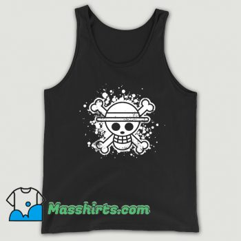 Awesome Skull Straw Hat Tank Top