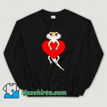 Best Bearded Dragon Heart Valentines Day Sweatshirt