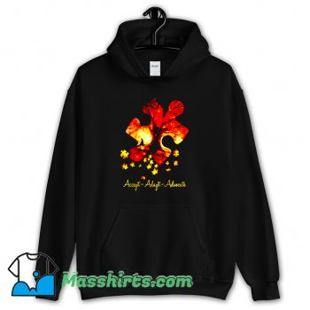 Cheap Accept Adapt Advocate Autism Hoodie Streetwear