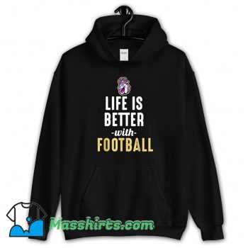 Cheap James Madison Dukes Life Is Better With Football Hoodie Streetwear