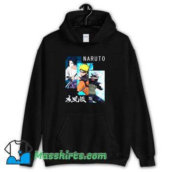Cheap Naruto 3 Panels and Kanji Hoodie Streetwear