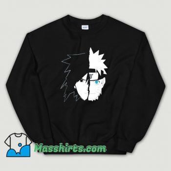 Cheap Naruto Sasuke Split Face Sweatshirt