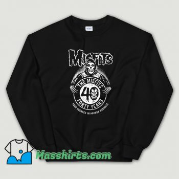 Cheap The Misfits Forty Years Anniversary Sweatshirt