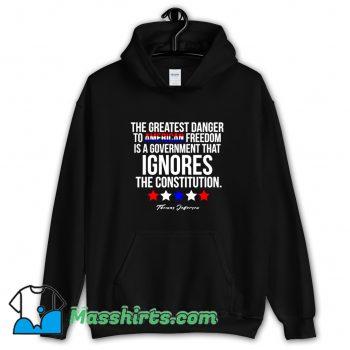 Cheap Thomas Jefferson Quote Patriotic Hoodie Streetwear