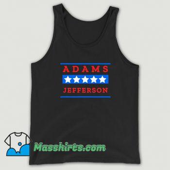 Classic American History Buff Adams Jefferson Tank Top