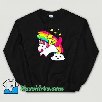 Classic Kitty Riding A Unicorn Sweatshirt