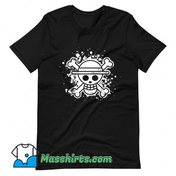 Classic Skull Straw Hat T Shirt Design