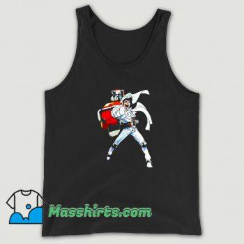 Cool Cartoon Robot Punch Tank Top