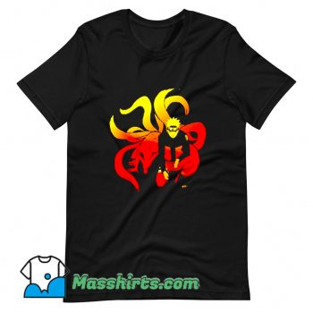 Cool Comic Naruto and 9 Tails T Shirt Design