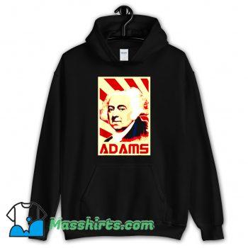 Cool John Adams Retro Propaganda Hoodie Streetwear