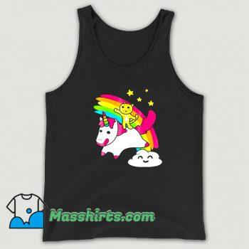 Cool Kitty Riding A Unicorn Tank Top