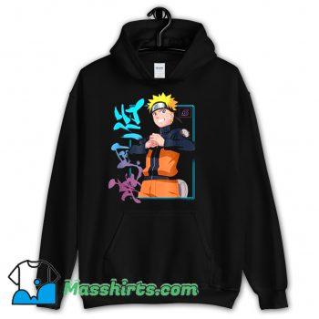 Cool Naruto Shippuden Kanji Frame Hoodie Streetwear