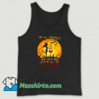 Cool This Witch Loves Wine Halloween Tank Top
