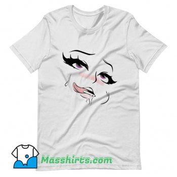 Funny Ahegao Eyes Here Anime T Shirt Design