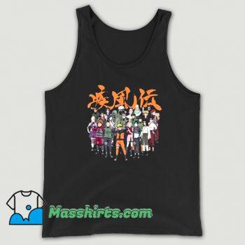 Funny Naruto Cast Group Comic Tank Top