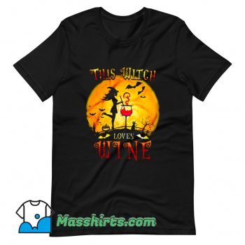 Halloween Day This Witch Loves Wine T Shirt Design