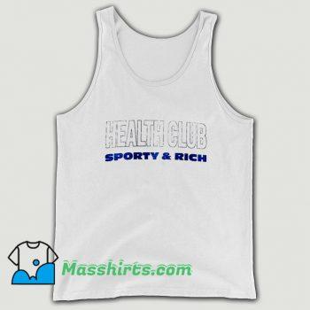 Health Club Sporty Rich Tank Top On Sale