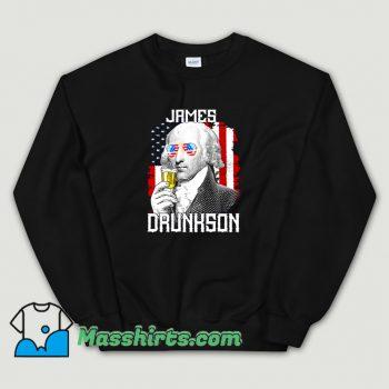 James Madison Drunkson Us Flag Sweatshirt On Sale