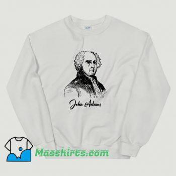 John Adams Pencil Sketch President Classic Sweatshirt
