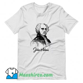 John Adams Pencil Sketch President Funny T Shirt Design