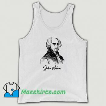 John Adams Pencil Sketch President Tank Top On Sale