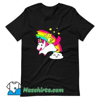 Kitty Riding A Unicorn Funny T Shirt Design