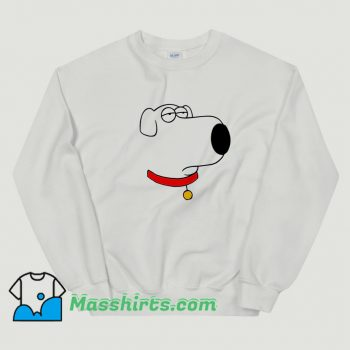 Line Draw Bored Brian Face Sweatshirt
