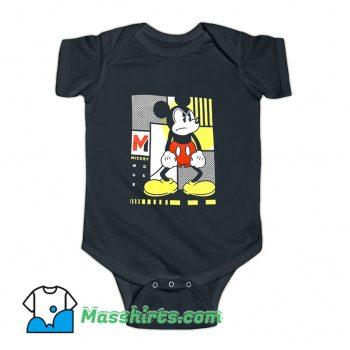 Movie Mickey Mouse Mad Angry Face Baby Onesie