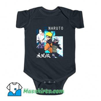 Naruto 3 Panels and Kanji Baby Onesie