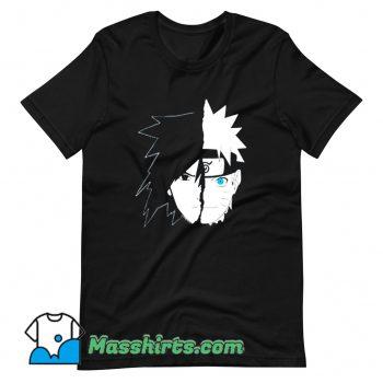 Naruto Sasuke Split Face T Shirt Design
