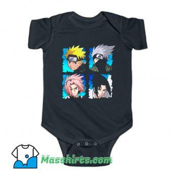 Naruto Shippuden 4 Heads Baby Onesie