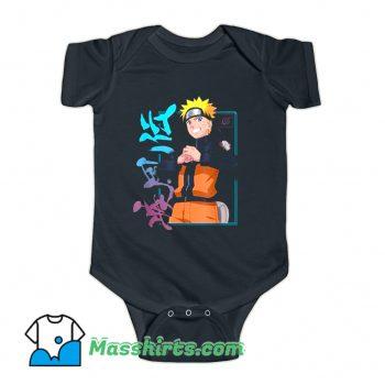 Naruto Shippuden Kanji Frame Baby Onesie