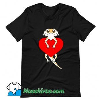 New Bearded Dragon Heart Valentines Day T Shirt Design