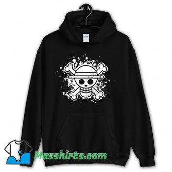 New Skull Straw Hat Hoodie Streetwear