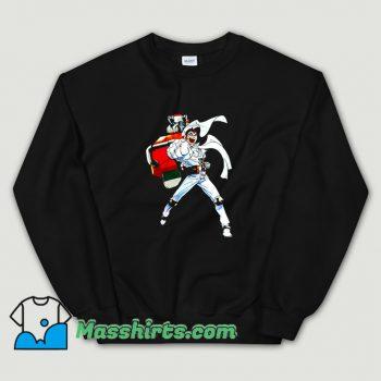 Original Cartoon Robot Punch Sweatshirt