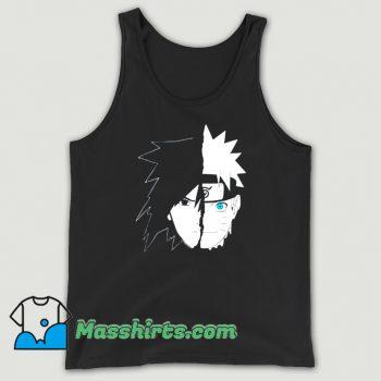 Original Naruto Sasuke Split Face Tank Top