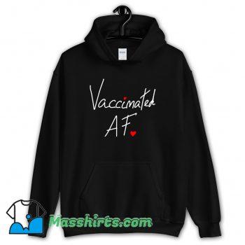 Original Vaccinated Af Heart Hoodie Streetwear