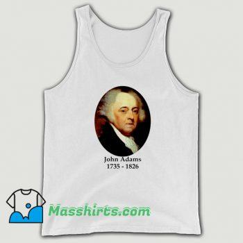 President John Adams 1735 1826 Tank Top
