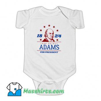President John Quincy Adams 1824 Baby Onesie