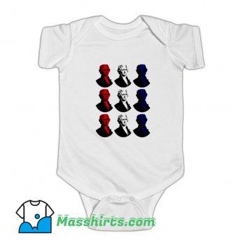 President Thomas Jefferso Red White Blue Baby Onesie