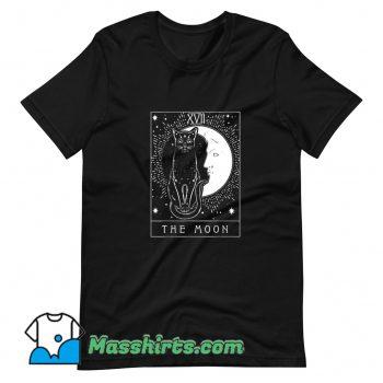 Tarot Card The Moon And Cat T Shirt Design