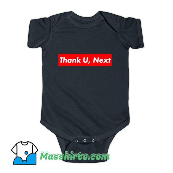 Thank U Next Red Box Logo Baby Onesie