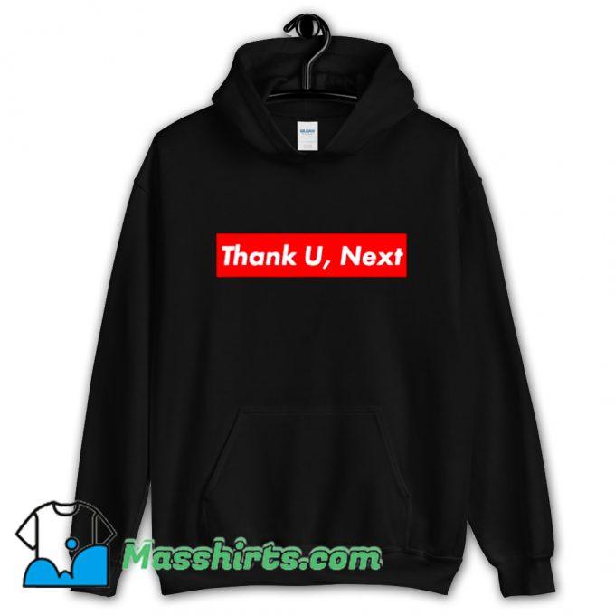 Thank U Next Red Box Logo Hoodie Streetwear On Sale
