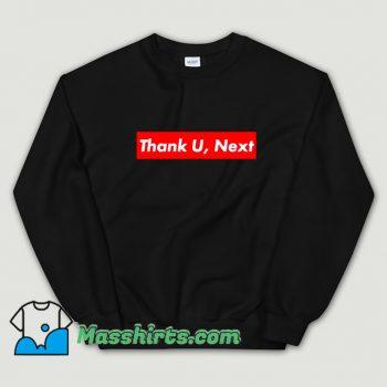 Thank U Next Red Box Logo Sweatshirt