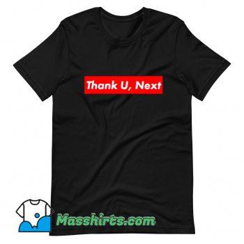 Thank U Next Red Box Logo T Shirt Design