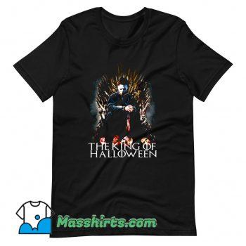 The King Of Halloween Vintage T Shirt Design