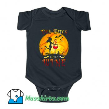 This Witch Loves Wine Baby Onesie
